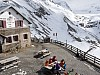 Relaxing at the Rifugio Branca.